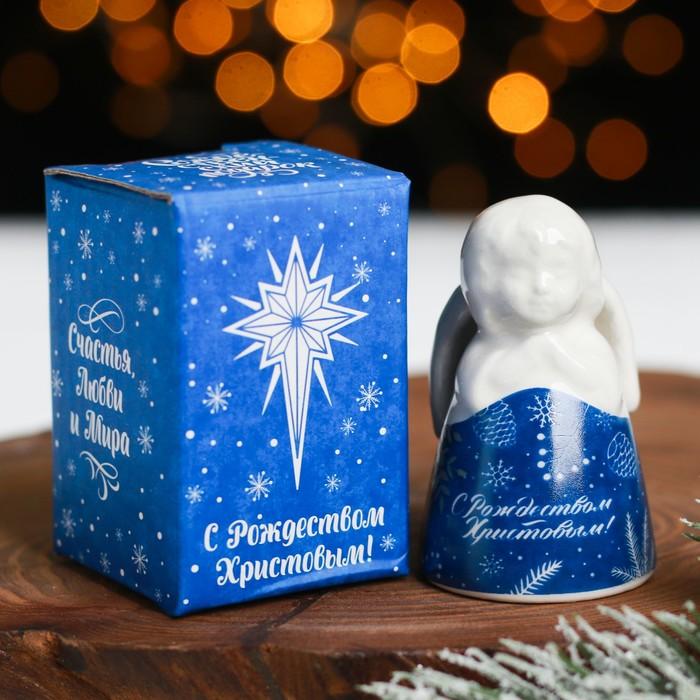 Колокольчик в форме ангела «С Рождеством Христовым!»