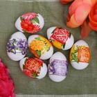 Пасхальная термоусадочная плёнка «Пожелания в цветах», на 7 яиц