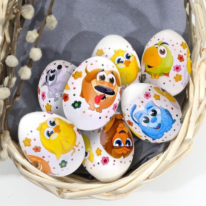 Пасхальная термоплёнка «Цыплята и друзья», на 7 яиц