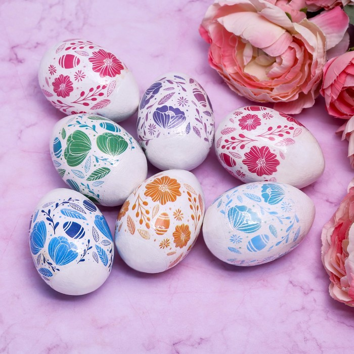 Пасхальная термоплёнка «Цветочки», на 7 яиц