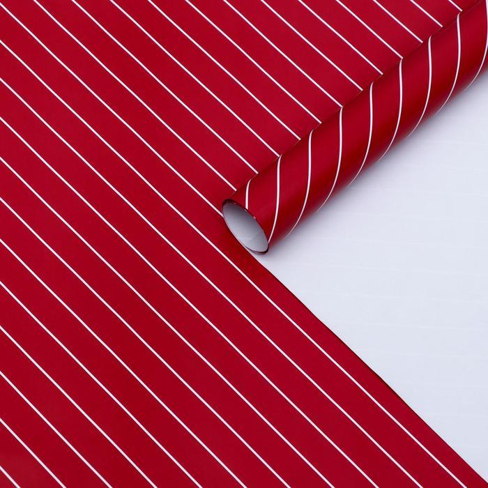 Бумага глянцевая, люрекс, 49 х 70 см. Красная