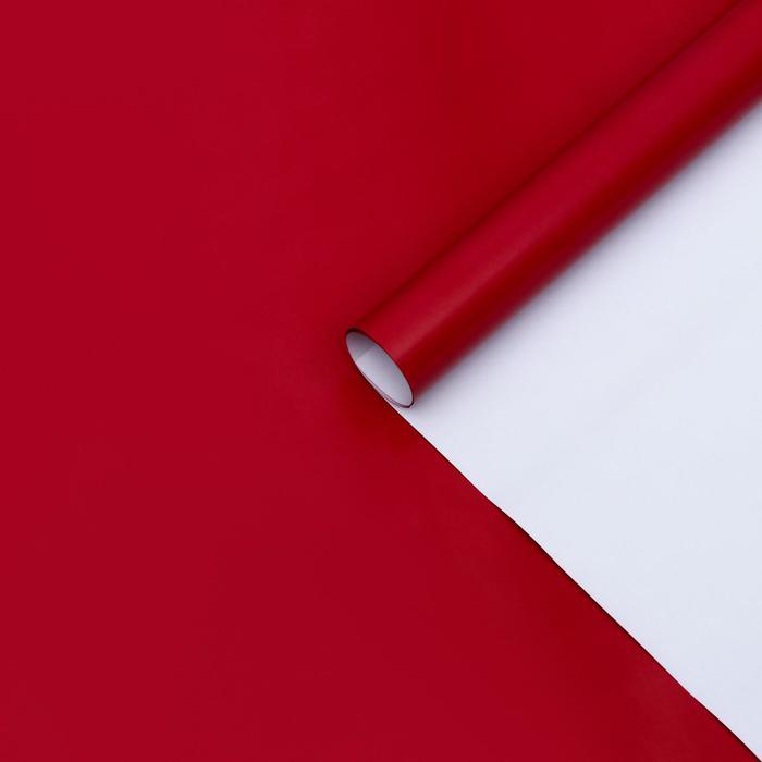 Бумага матовая, однотонная, красная, 49 х 70 см