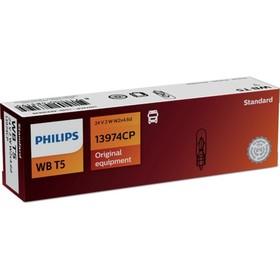 Лампа автомобильная Philips, WBT5, 24 В, 2 Вт, 13974CP