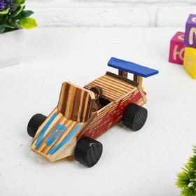 Игрушка из дерева «Гоночный автомобиль» с моторчиком 9.4×18×7.5 см Ош