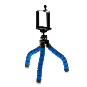 Штатив-тренога LuazON, настольный, гибкие ножки, крепление для телефона, высота 23 см, синий Ош