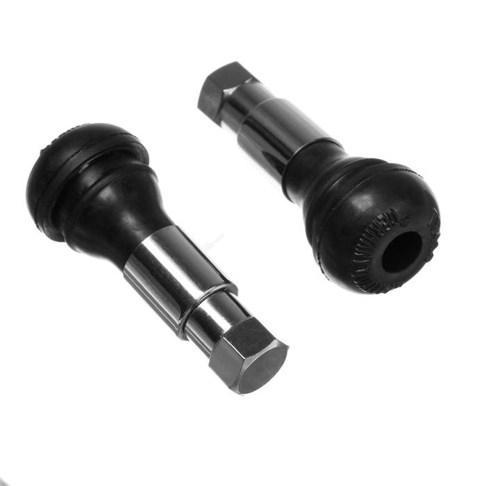 Вентиль для бескамерных шин TR413, хромированный