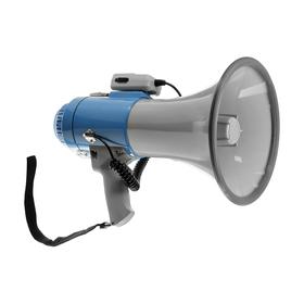 Мегафон ручной Rad-50, 50 Вт, дальность до 1000 м, сирена, серо-синий Ош