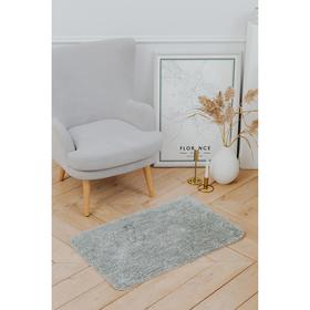 Коврик Доляна «Нина», 50×80 см, ворс короткий, цвет серый
