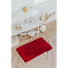 Коврик «Нина», 50×80 см, ворс короткий, цвет бордовый