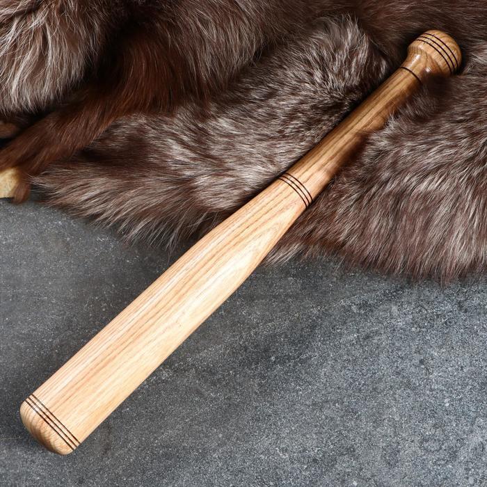 Бита деревянная сувенирная, лакированная, 50 см, массив дуба