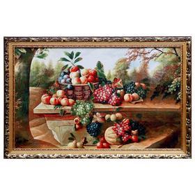 """WJ022-50х80 Картина из гобелена """"Натюрморт на природе"""" (55х85)"""