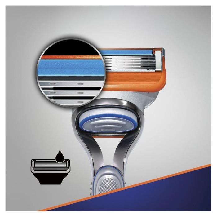 Подарочный набор защитнику, Gillette Fusion: Бритва с 1 сменной кассетой+Гель д/бритья Ultra Sensitive, 75мл