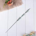 Стебель для изготовления искусственного цветка на один цветок с листьями 40 см