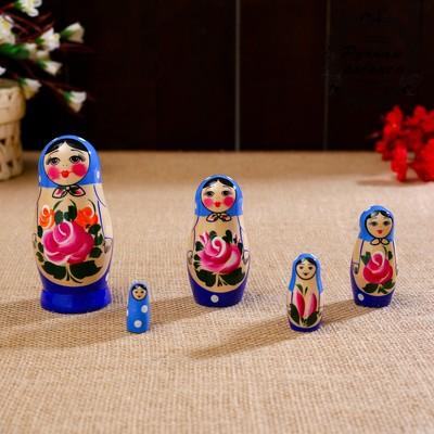"""Матрёшка """"Семёновская"""", 5 кукольная, высшая категория - Фото 1"""
