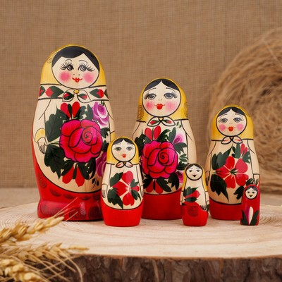 """Матрёшка """"Семёновская"""", 6 кукольная, высшая категория - Фото 1"""