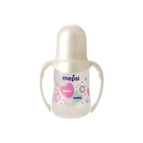 Бутылочка для кормления Mepsi, с ручками с силиконовой соской, 125 мл