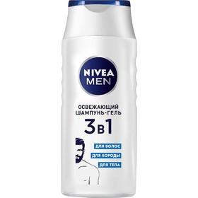 Освежающий шампунь-гель 3 в 1 Nivea, 250 мл