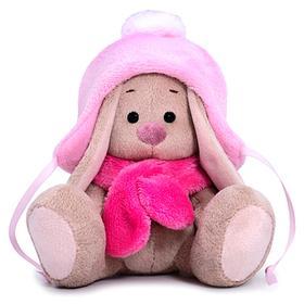Мягкая игрушка «Зайка Ми в шапке с помпоном и шарфе», 15 см