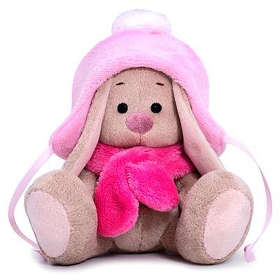 Мягкая игрушка «Зайка Ми в шапке с помпоном и шарфе», 15 см - Фото 1