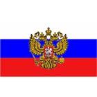 "Флаг прямоугольный на липучке ""Герб"", 140х240 мм фон флаг"