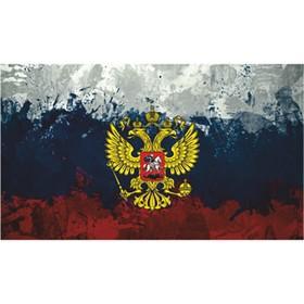 Флаг прямоугольный на липучке 'Герб' красками флаг, 140х240 мм Ош