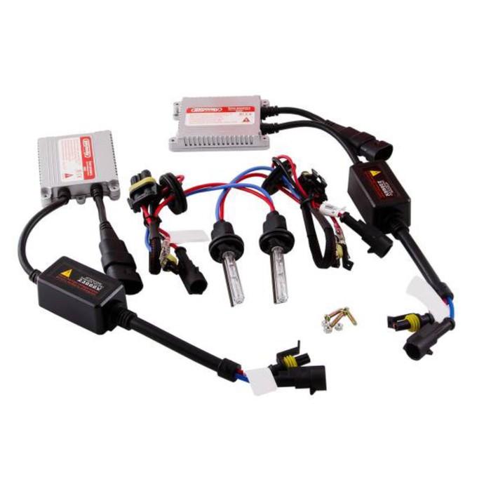 Автолампа би-ксенон H4 H/L, 12В 35Вт, 5000K, Skyway, комплект 2 шт + провод+ 2 блока розжига