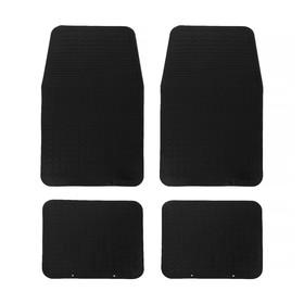Коврики автомобильные Skyway 009, 4 предмета, резиновый,  черный Ош