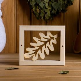 Вентиляционная крышка из липы, 'Банный лист', 14,5×12,5 cм, без задвижки Ош