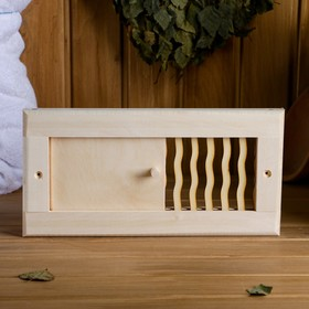 Вентиляционная крышка из липы, 'Пламя', 31х15см, с задвижкой Ош