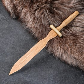 """Сувенирное деревянное оружие """"Клинок"""", тип 4, 31 х 4,5 см, массив бука"""