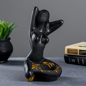 Подставка для мелочей 'Египтянка' черная, 14х14х24см Ош