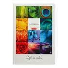 Бизнес-блокнот А5, 96 листов в клетку/линейку, «Жизнь в цвете», твёрдая обложка, матовая ламинация