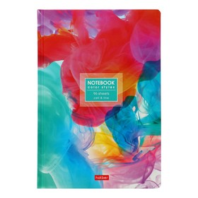 Бизнес-блокнот А5, 96 листов в клетку/линейку, «Потоки цвета», твёрдая обложка, матовая ламинация