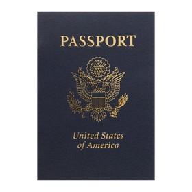 Записная книжка А6, 16 листов «Паспорт. Америка», обложка мелованный картон, матовая ламинация, 3D-фольга, блок 80 г/м² Ош