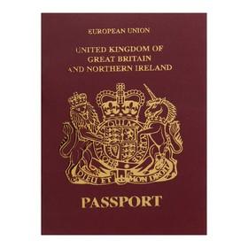 Записная книжка А6, 16 листов «Паспорт. Англия», обложка мелованный картон, матовая ламинация, 3D-фольга, блок 80 г/м² Ош