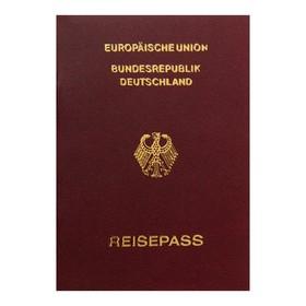 Записная книжка А6, 16 листов «Паспорт. Германия», обложка мелованный картон, матовая ламинация, 3D-фольга, блок 80 г/м² Ош
