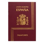 Записная книжка А6, 16 листов «Паспорт. Испания», обложка мелованный картон, матовая ламинация, 3D-фольга, блок 80 г/м²