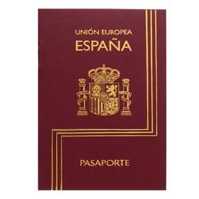 Записная книжка А6, 16 листов «Паспорт. Испания», обложка мелованный картон, матовая ламинация, 3D-фольга, блок 80 г/м² Ош
