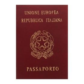Записная книжка А6, 16 листов «Паспорт. Италия», обложка мелованный картон, матовая ламинация, 3D-фольга, блок 80 г/м² Ош