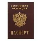 Записная книжка А6, 16 листов «Паспорт. Россия», обложка мелованный картон, матовая ламинация, 3D-фольга, блок 80 г/м²