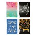 Записная книжка А6, 80 листов на гребне «Ассорти №1», обложка мелованный картон, матовая ламинация, 3D-фольга