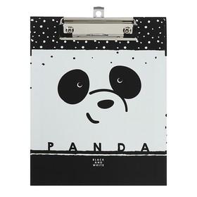 Папка-планшет А5 с металлическим зажимом Panda, ламинированный картон, матовая ламинация Ош