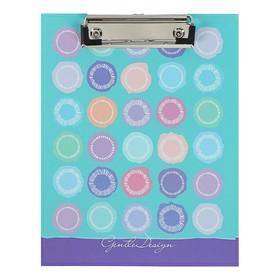 Папка-планшет А5 с металлическим зажимом «Узоры», ламинированный картон, матовая ламинация Ош