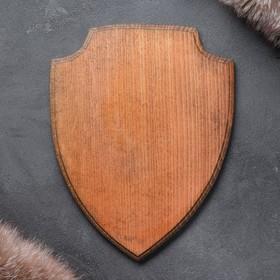 Медальон для охотничьих трофеев «Щит», крашеная, 25х32 см, массив бука Ош