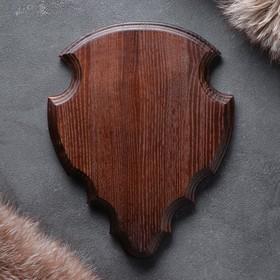 Медальон для охотничьих трофеев, массив дуба, 25 х 20 х 3 см Ош