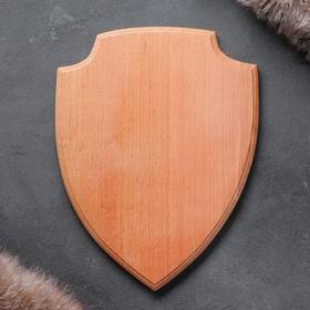 Медальон для охотничьих трофеев «Щит», некрашеная, 25х32 см, массив бука Ош