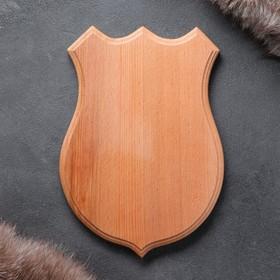 Медальон для охотничьих трофеев «Волк», некрашеная, 19х26 см, массив бука Ош