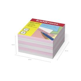 Бумага для заметок ErichKrause 90 x 90 x 50мм, белая, розовая 2719 Ош