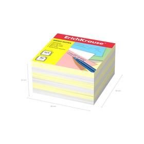 Бумага для заметок ErichKrause 90 x 90 x 50мм, белая, желтая 2721 Ош