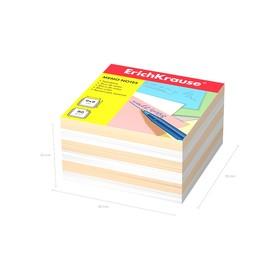 Бумага для заметок ErichKrause 90 x 90 x 50мм, белая, персиковая 6600 Ош